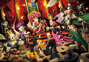 """Tenyo Disney """"welcome To The Chess World"""" 1000 Piece Jigsaw Puzzle, From Japan"""