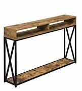Convenience Concepts Tucson Deluxe 2 Tier Console Table Barnwood