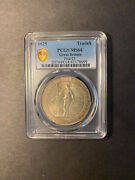 Great Britain Trade Dollar 1925 Champagne Toned Gem Uncirculated Pcgs Ms64