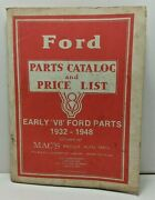 Mac's Antique Auto Parts - Ford Early 'v8' Ford Parts Catalog - October 1987