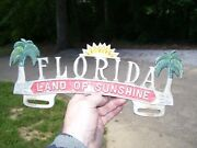 Vintage Original Accessory License Plate Topper Gm Ford Chevy Hot Rat Rod 1950s