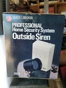 New Black And Decker 9106 Home Protector Security System Outside Siren Sealed