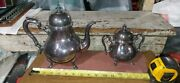 1921 Antique King George International Silver Co. Silverplate Tea Pot And Creamer