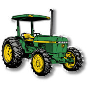 Green And Yellow Tractor With Shade Magnet Made In Usa By Classic Magnets