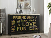 Acme Arwin Console Table In Antique Black And White Washed Finish 90292