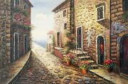 Idyllic View Of An Mediterranean Rustic House And Stone Stairs Landscape 60x90
