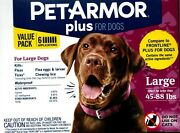 Pet Armor Plus For Large Dogs 45-88 Lbs 6 Doses New Authentic Sealed Usa Seller