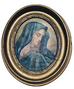 Old 1800s Antique Virgin Mary Mater Dolorosa Rare Barn Find