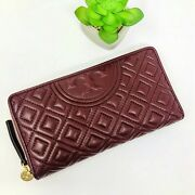 Fleming Zip Continental Wallet In Claret 100 Guaranteed Authentic