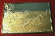 Currier And Ives The Road Winter Ingot 2.75 Oz.999 Silver By Franklin Mint