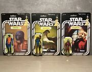 Vintage Star Wars Figures Lot Cantina 1978 Re-carded