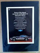 1978 Chevrolet Corvette Indy Pace Gm Ready To Displayprint Car Ad 1979 1977