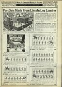 1933 Paper Ad Lincoln Log Toy Historical Figures Soldiers Us Infantry Popeye