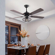 52 Iron Farmhouse Ceiling Fan With Remote 3 Speed Reversible Blades Fan Lamp