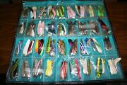 Huge Fishing Lure Lot 140+ Lures With Holding Pouch For Trolling