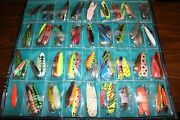 Huge Fishing Lure Lot 120+ Lures With Holding Pouch For Trolling