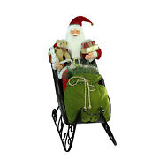 Northlight 4and039 Deluxe Animated Musical Santa In Jeweled Sleigh Christmas Decor