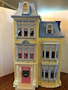 Fisher Price Loving Family Sweet Sounds Dollhouse Loaded Lots Of Furniture Blue