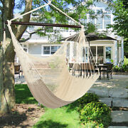 Polyester Large Hanging Caribbean Rope Hammock Chair With Tassel 135kg Capacity
