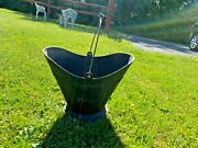 Vintage Lustro Ware Plastic Coal Scuttle Bucket For Decorative Use Only