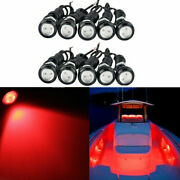 10x Marine Scooter Yacht Led Lights 12w Drain Plug Light Red Underwater Lamps