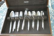 Flatware 1847 Rogers Brothers Silverware, 1965 Garland, Silver Plate, 49 Pieces