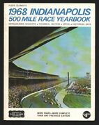 Indianapolis 500 Auto Race Usac Yearbook 1968-aj Foyt-mario Andretti-johnny R...
