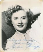 Barbara Stanwyck / Inscribed Photograph Signed