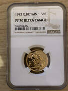 Highest Appraisal United Kingdom 1983 Pound Ngc Pf 70 Sovereign Gold Coins Uc