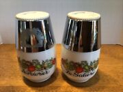 Vtg Gemco Spice Of Life Milk Glass Salt And Pepper Shakers Perfect