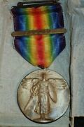 Wwi Us Army Victory Medal With France Clasp And039jos. Mayer Inc.and039 Box And Named Mailer