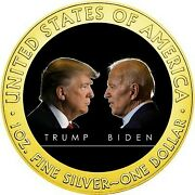Yafuokuand039s First Appearance 2020 Trump Vs Biden Gold Silver Eagle With Dedicated