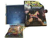 Lite -brite Vintage 1967 Includes Picture Refills And 600 Pegs Used