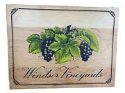 Vintage Wood Sign Windsor Vineyards Wine Grapes Winery Farmhouse Home Decor
