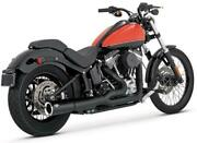 Vance And Hines Pro Pipe 2-1 Exhaust System Blk Harley Fxs Softail Blackline 12-14