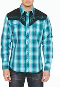Rcco Rodeo Clothing Company Menand039s Embroidered Western Inspired Long Sleeves Butt