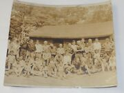 Boothbay Maine Summer-camp Sports Time Bandw Photo 7.5 X 8.5 Circa 1910