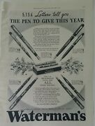 1934 Waterman's Patrician Lady Patricia No. 7 3 And 94 Fountain Pen Pencil Set Ad
