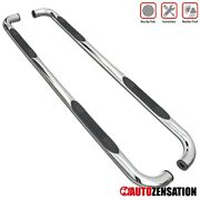 For 2009-2014 Ford F150 Extended Cab 3 Chrome S/s Running Boards Side Step Bars