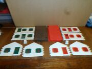 Plasticville O-s Scale Toy House Kit's Lot Of 2 White/red White/green/brown