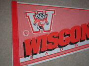 Wisconsin Badgers College Full Size 30 Inch Vintage Pennant