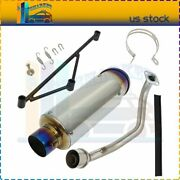 Motorcycle Exhaust Muffler System For 125cc 150cc Gy6 Engine Honda Ruckus Zoomer