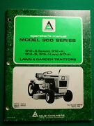 Allis Chalmers 900 Series Lawn And Garden Tractors Owner's Manual