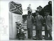 Vintage Photos 1966 Military Officers At Confederate Memorial 9x7