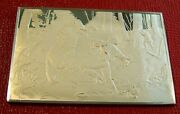 Currier And Ives The Life Of A Hunter Ingot 2.75 Oz.999 Silver By Franklin Mint