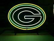 Green Bay Packers Neon Sign Light 14x10 Man Cave Bar Beer Decor Led
