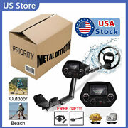 Waterproof Metal Detector Deep Ground Gold Finder Lcd Display Search Coil-new