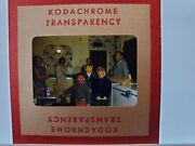 Kodachrome Photographic Slide Group Of People In A Kitchen Halloween