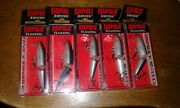 Lot Of 5 Rapala Jointed J-5 2andrdquo 1/8oz Floating Dives 3-5andrsquo Good Colors Wrp