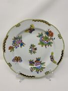 Herend Queen Victoria Soup Plate 503/vbo ⭐️near Exc Cond⭐️ 9 1/2 Inch D 3 Of 3